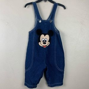 Vintage Mickey Mouse Disney Denim Overalls 6-9M